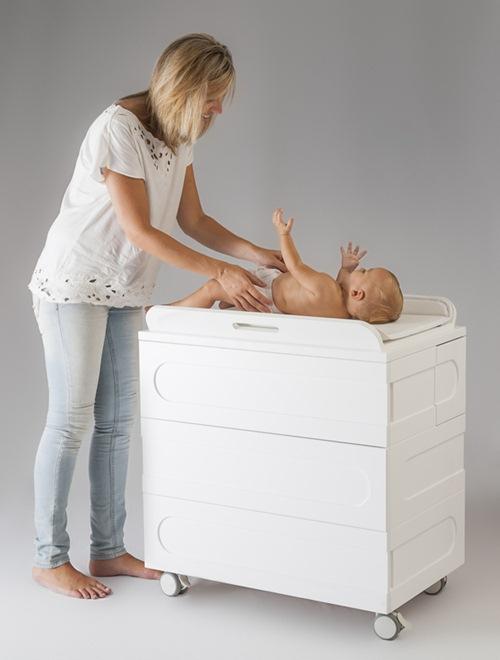 Moodelli dise o contempor neo para el beb de hoy - Cambiador bebe para comoda ...
