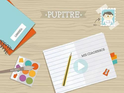 Pupitre, la aplicación infantil de Santillana para tablets.
