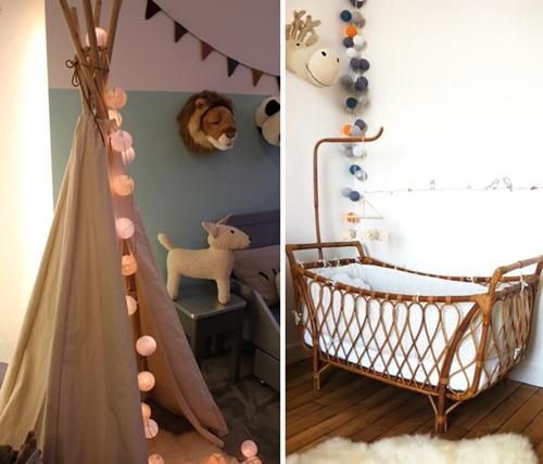 Guirnaldas de luces para habitaciones infantiles - Habitaciones con luces ...