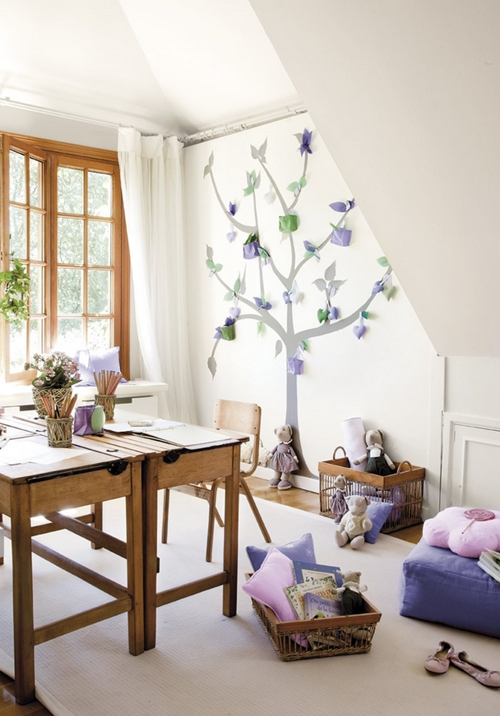 Habitaciones infantiles ideales para estudiar decopeques for Sillas para estudiar