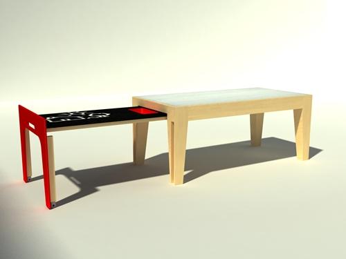 mesa prototipo extensible