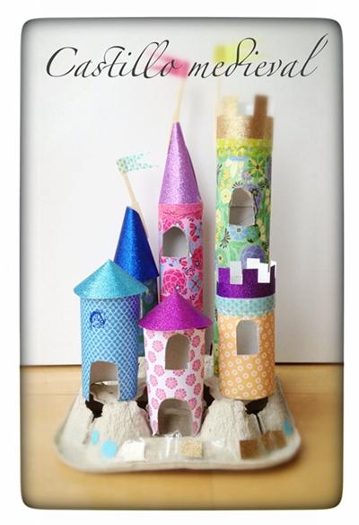 castillo medieval, manualidad infantil