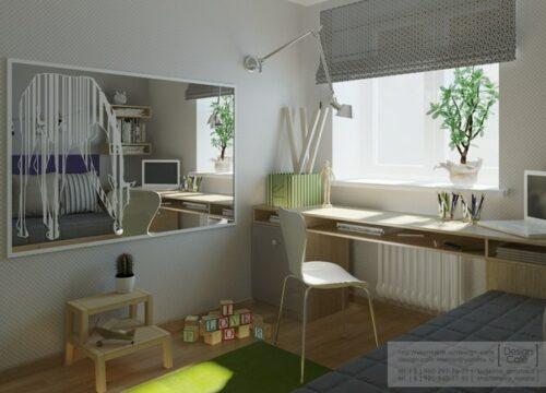 habitacion juvenil verde 2