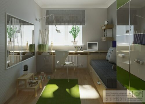 Habitaciones juveniles de studio cafe decopeques - Decoracion paredes habitaciones juveniles ...
