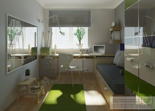 habitacion juvenil verde 3