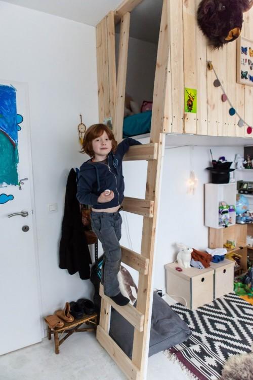 dormitorio infantil cabaña