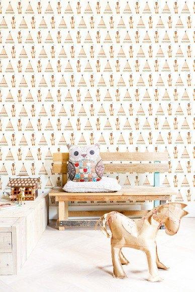Papeles pintados infantiles decopeques - Papeles infantiles para paredes ...
