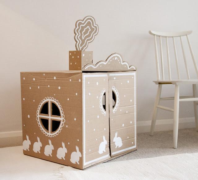 Manualidades con niños…Un casita de cartón