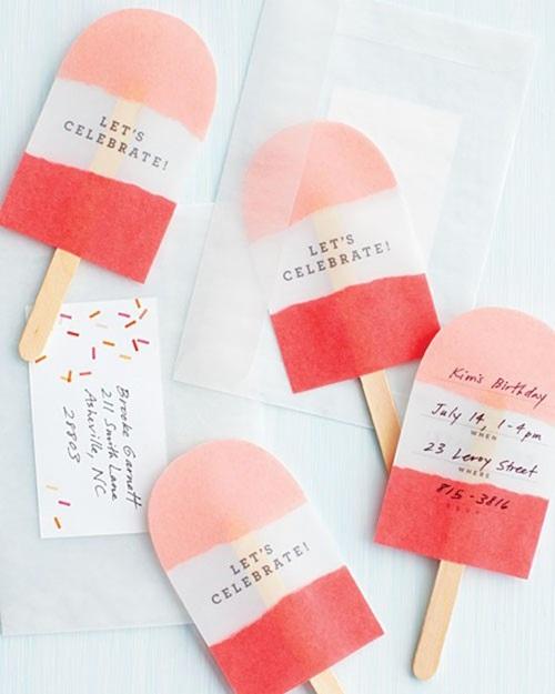 un polo de fresa contiene la invitacin - Invitaciones De Cumpleaos Originales