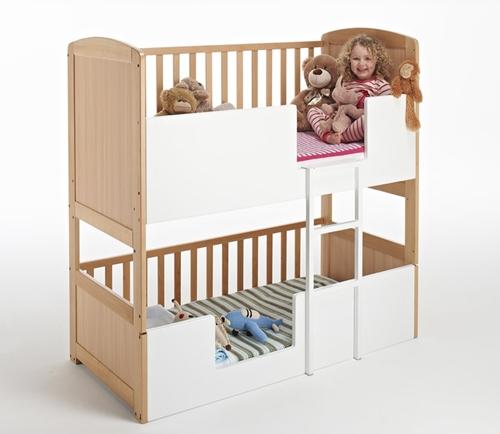 Cuna cama convertible para dos hermanos - Cunas y muebles para bebes ...