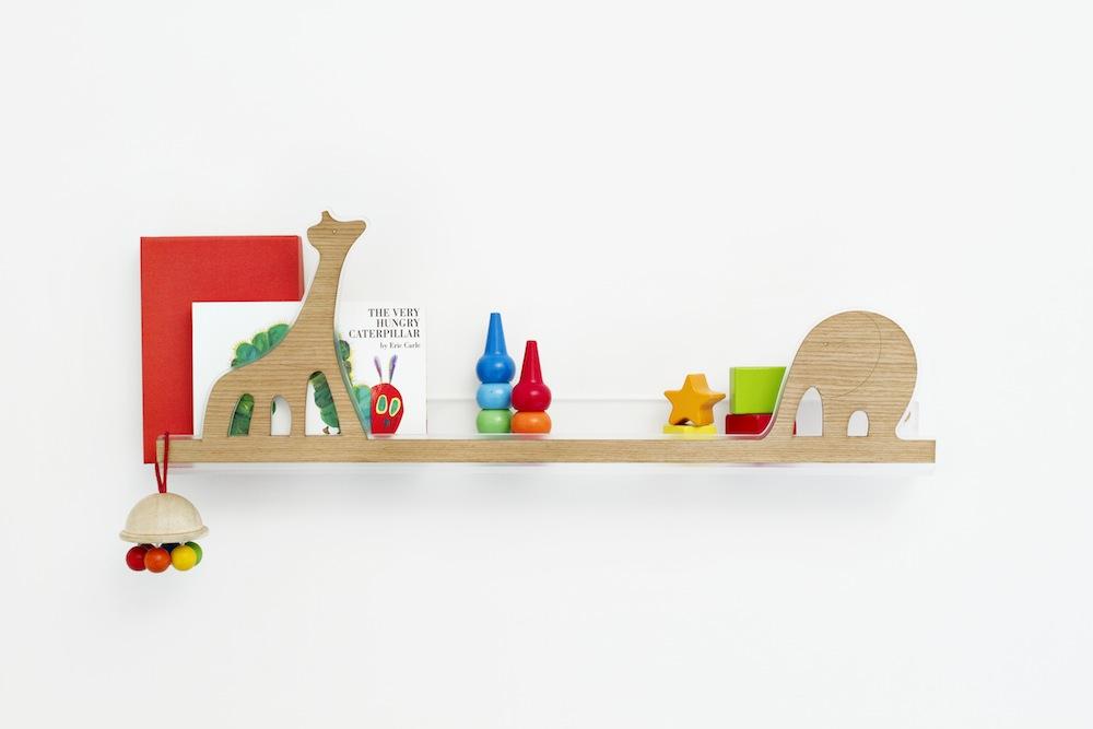 Bonitos estantes de pared para niños