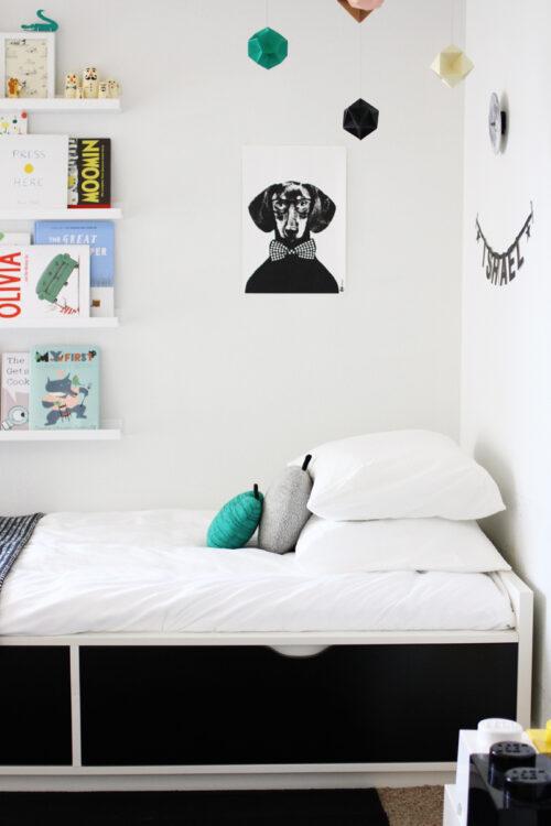 habitaciones en blanco y negro
