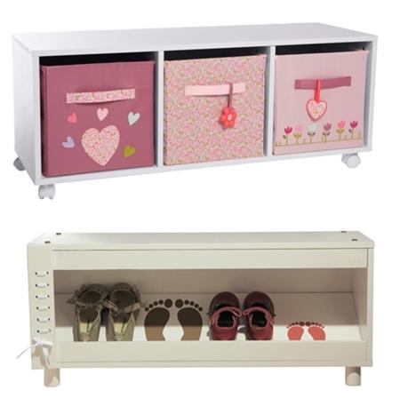 Muebles de almacenaje para ni os decopeques for Muebles zapateros originales