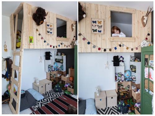 10 dormitorios infantiles con camas creativas decopeques. Black Bedroom Furniture Sets. Home Design Ideas