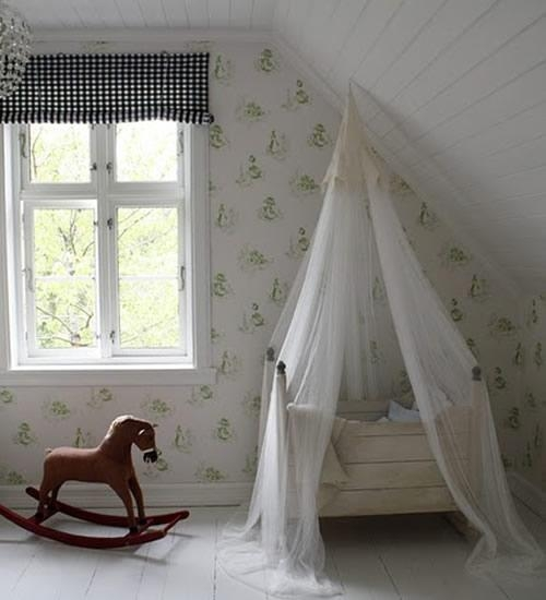 10 dormitorios de ni os con dosel decopeques - Dosel para cunas ...