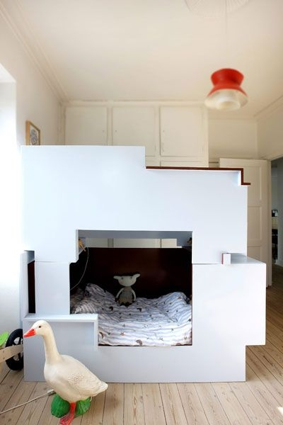 10 dormitorios infantiles con camas creativas decopeques for Cama dormitorio infantil