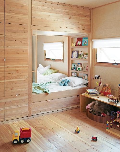 dormitorio-niños-madera-empotrado