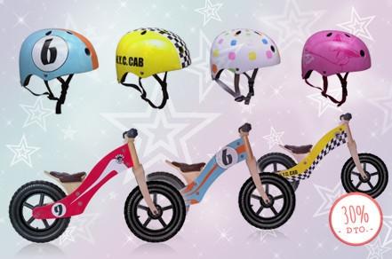 oferta bicis y cascos niños