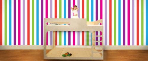 Papeles pintados para ni os de popandlolli decopeques - Papeles infantiles para paredes ...