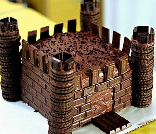 tarta-castillo de chocolate 2