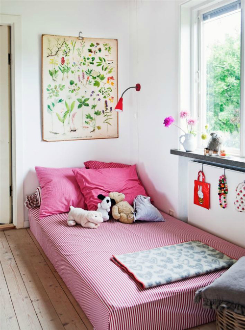 10 habitaciones infantiles decoradas con l minas vintage for Bedroom floor letra