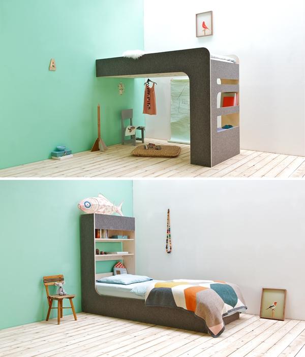 Arriba y abajo doble dormitorio infantil por thomas for Camas infantiles dobles