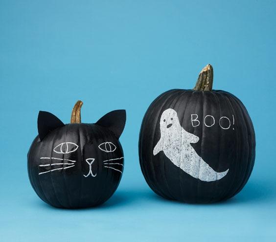 10 ideas para un halloween terror ficamente bonito - Decorar calabaza halloween ninos ...