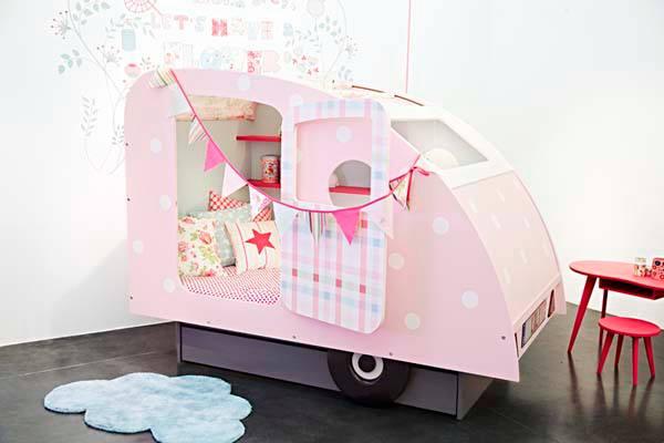 cama caravana para Lilli Mandarina