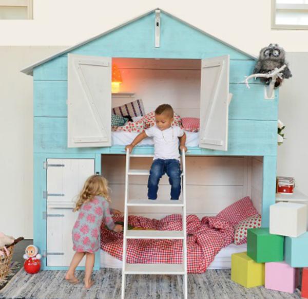 Camas casita infantiles que enamoran decopeques - Fotos de camas bonitas ...