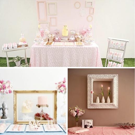 Las mejores ideas para decorar el fondo de la mesa de for Decoracion marcos fotos
