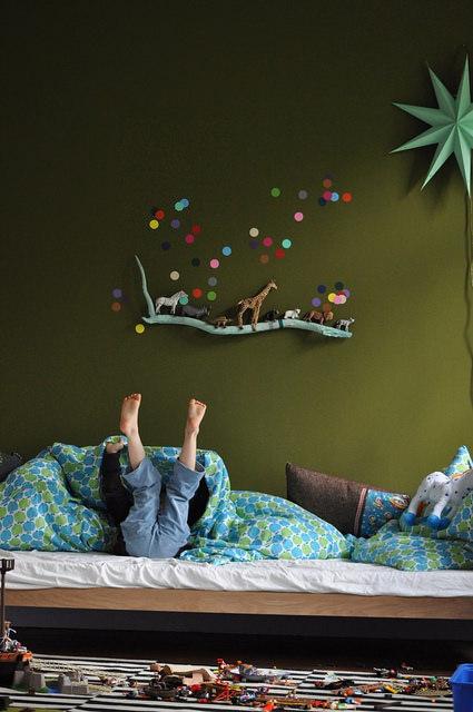 dormitorios-niños-lunares