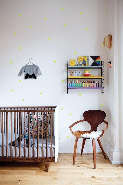 habitaciones-niños-lunares