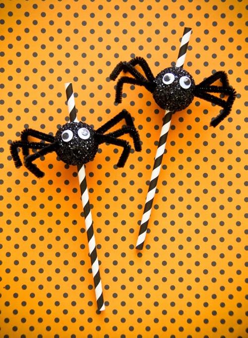 pajitas-fiesta-halloween-arañas