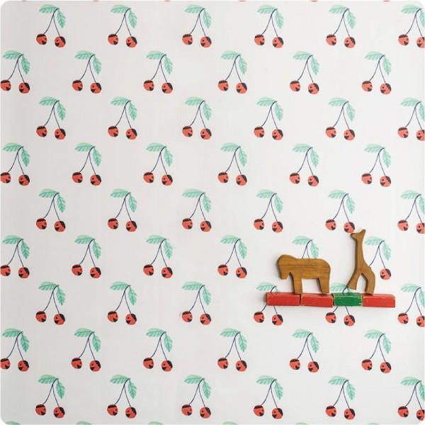 papel-niños-vinilo-cerezas