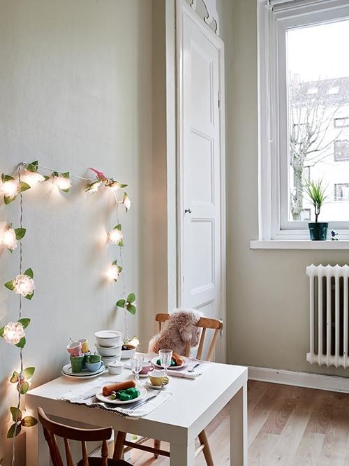 Clic clac foto… Precioso ambiente con una guirnalda de luces