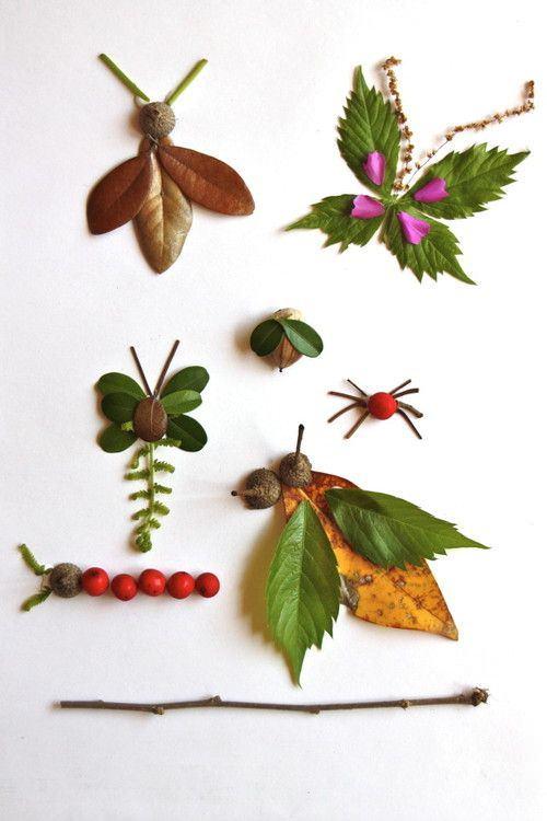 manualidades con hojas de otoño