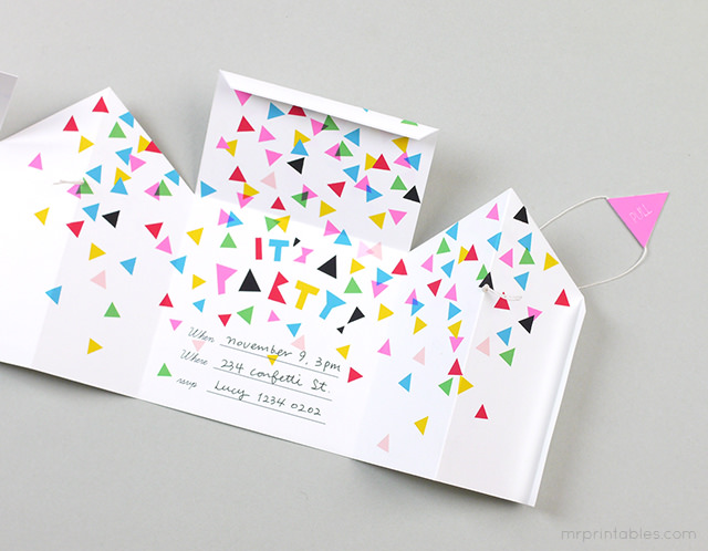 pop up house invitation step guirnalda fiesta de coches celebra un cumpleaos original