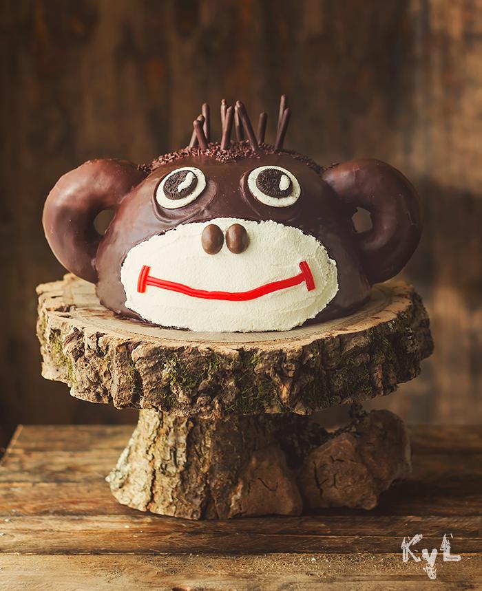 Receta de una original tarta mono