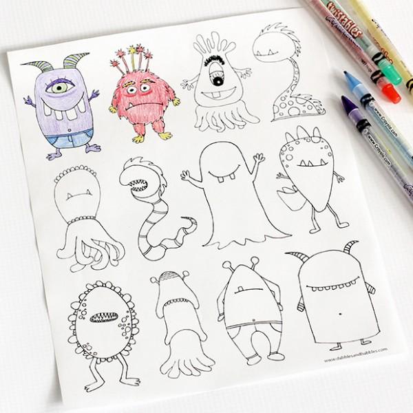 dibujos para imprimir_monstruos