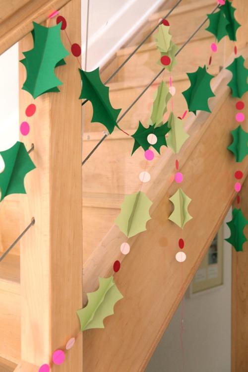 12 ideas para hacer esta navidad con los ni os decopeques - Decoracion navidad papel ...