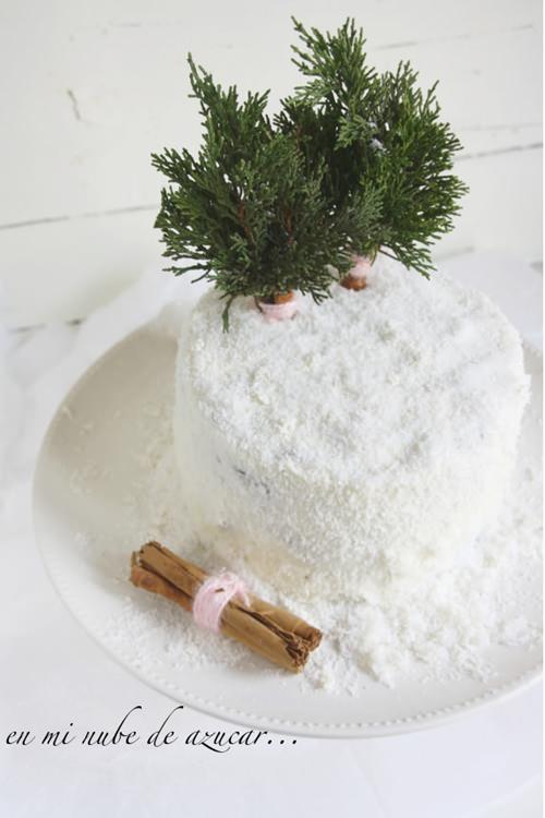 tarta para niños nieve