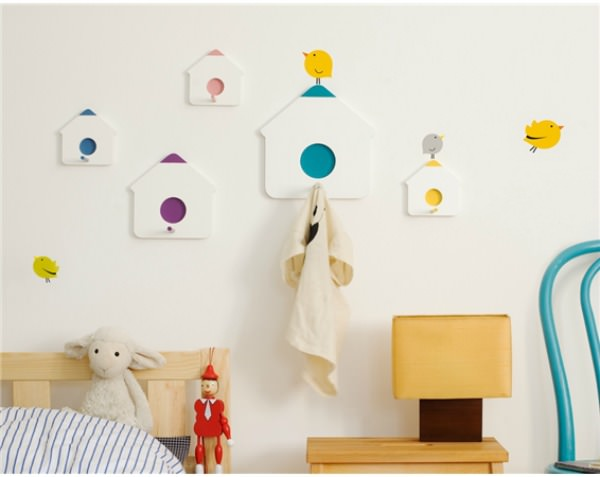 Bird stickers and birdhouse hooks by Bumoon & Looodus (2)
