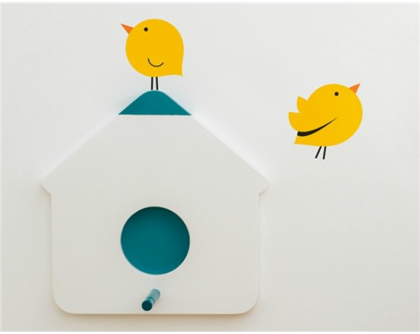 Bird stickers and birdhouse hooks by Bumoon & Looodus