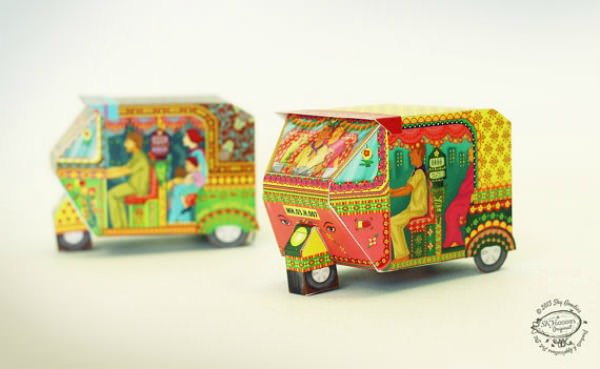 DIY Paper Bombay Auto Rickshaw Toy - Sky Goodies