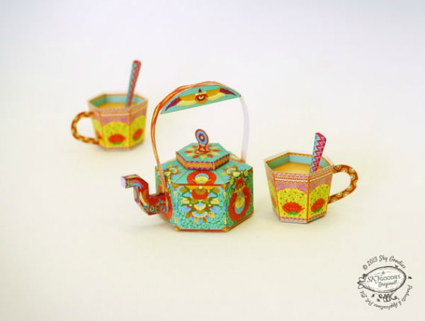 DIY Paper Toy Masala Chai Tea Set - Sky Goodies