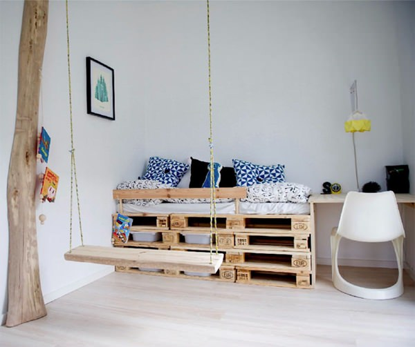 8 ideas con pallets para cuartos infantiles | DecoPeques
