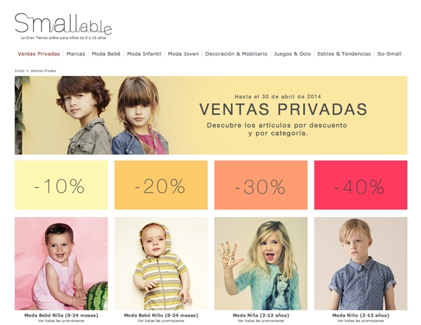 smallable-ventas privadas