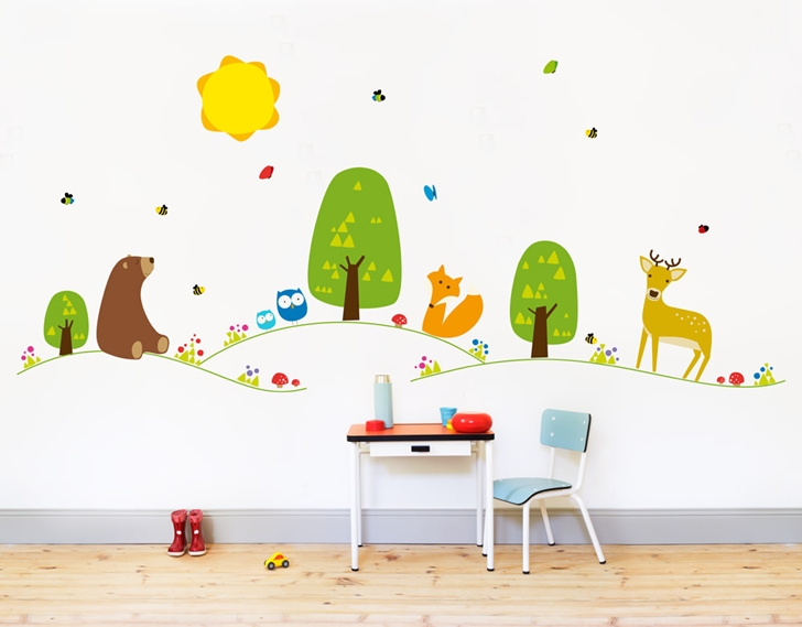 Vinilos mimondo para grandes espacios decopeques Vinilos de pared infantiles