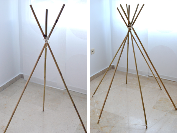 diy c mo hacer un tipi para la habitaci n de los ni os decopeques. Black Bedroom Furniture Sets. Home Design Ideas