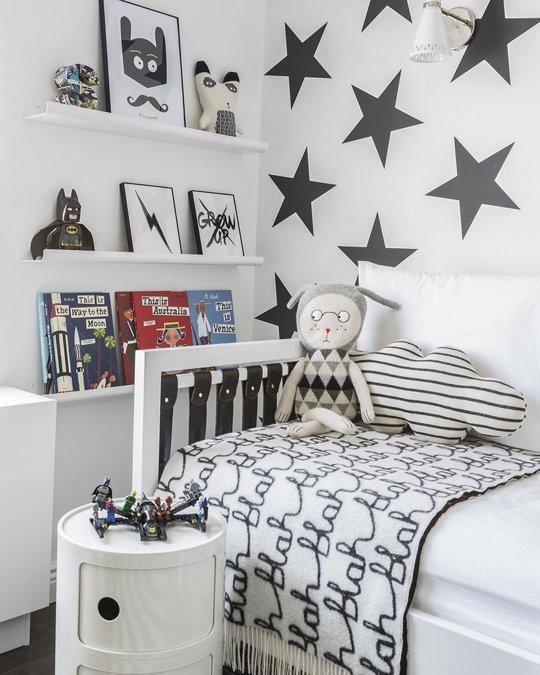 Pinterest Boys Bedroom Ideas: Bonito Dormitorio Infantil En Blanco Y Negro